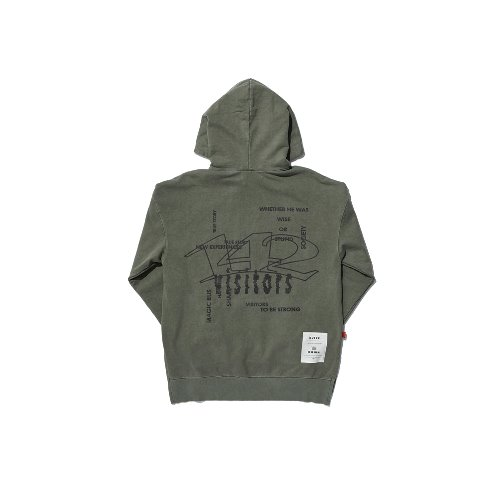 [OVERR] TOME.5 PIGMENT KHAKI HOODIE