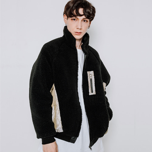 [마에다류토] BOA FLEECE PADDING JACKET - BLACK