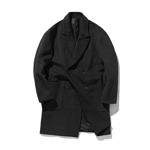 [OJEH] Wool coat - Black