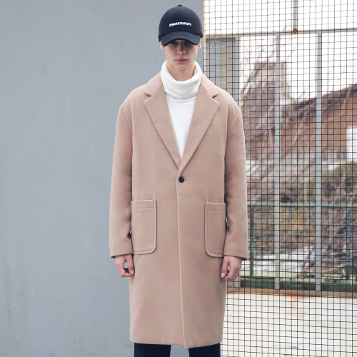 [MASSNOUN] DROP SHOULDER OVERSIZED SINGLE COAT MFECT002-CM