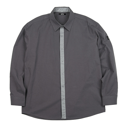[ATO] SCOTCH LINE SHIRT - grey