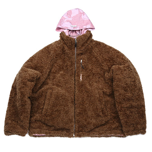 [12월 20일 예약배송][AJOBYAJO FINK LABEL] Reversible Manga Fake Fur Jacket [Pink]