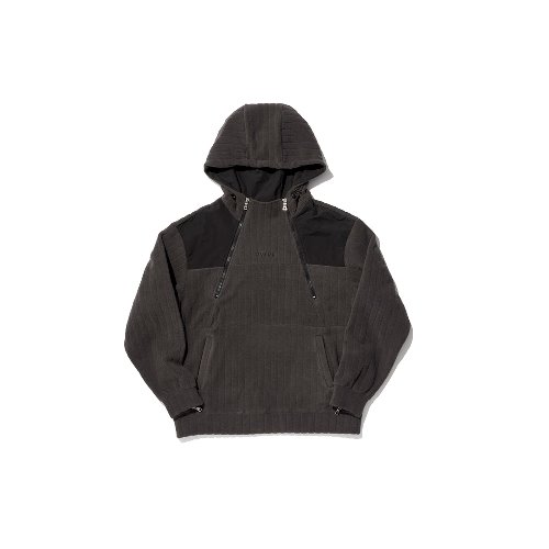 [OVERR] TOME.5 FLEECED CHARCOAL INCISION HOODIE