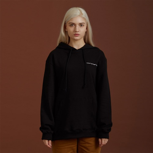[ATO] NEEDLEPOINT HOODY - black