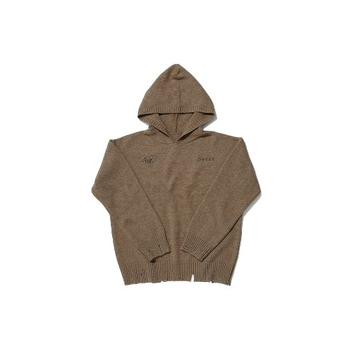 [OVERR] TOME.5 BROWN HOODIE KNIT