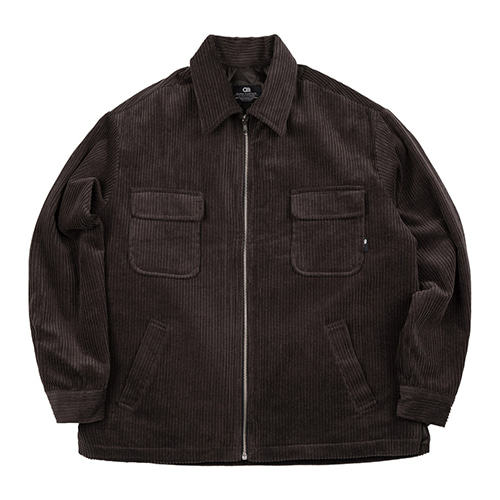 [ATO] CORDUROY TRUCKER JACKET - brown