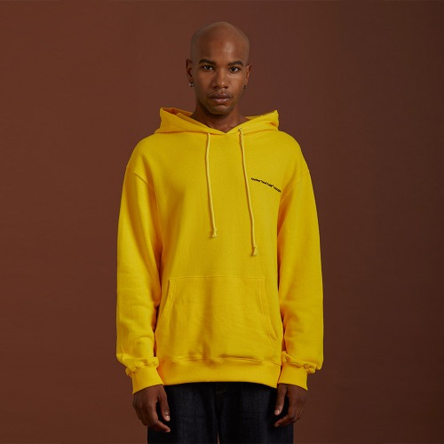 [ATO] NEEDLEPOINT HOODY - yellow