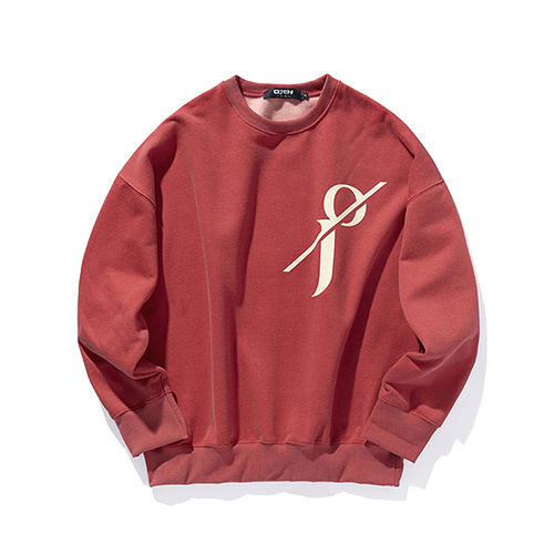 [OJEH] Pigment sweat shirts - Red