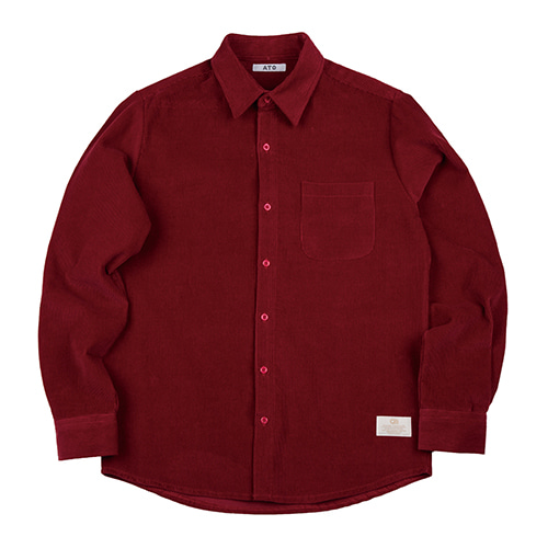 [ATO] CORDUROY 8 SHIRT - red