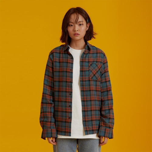 [ATO] CHECK90 SHIRT - khaki