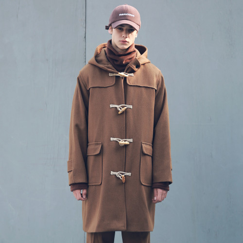 [MASSNOUN] HEAVY OVERSIZED WOOL DUFFLE COAT MFECT004-BR
