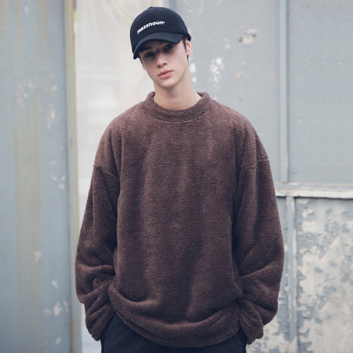[MASSNOUN] SOFT WOOL SIDEVENT CREW NECK MFECR006-BR