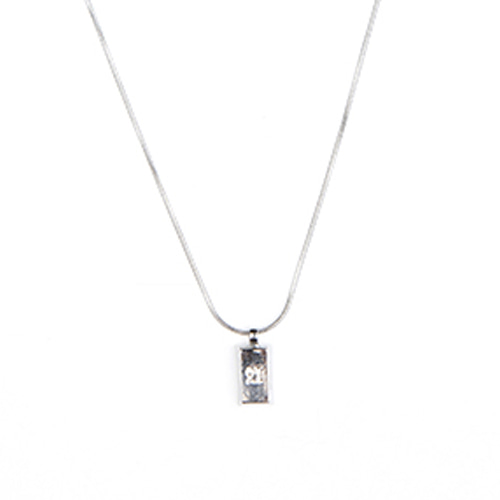 [ANOTHERYOUTH] logo bar necklace - sliver