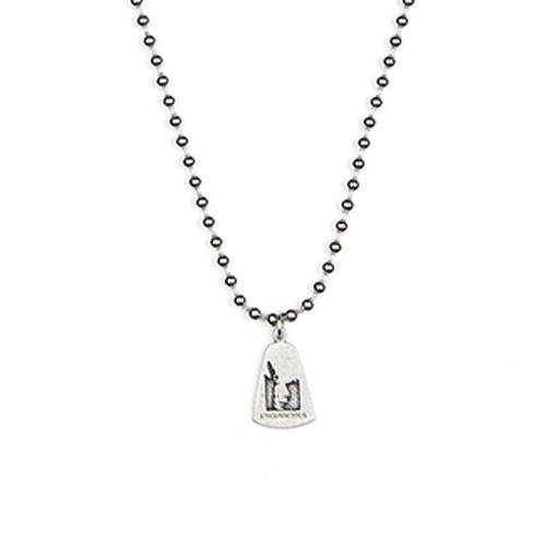 [ANOTHERYOUTH] bell pendant necklace - sliver