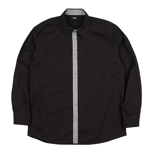 [ATO] SCOTCH LINE SHIRT - black
