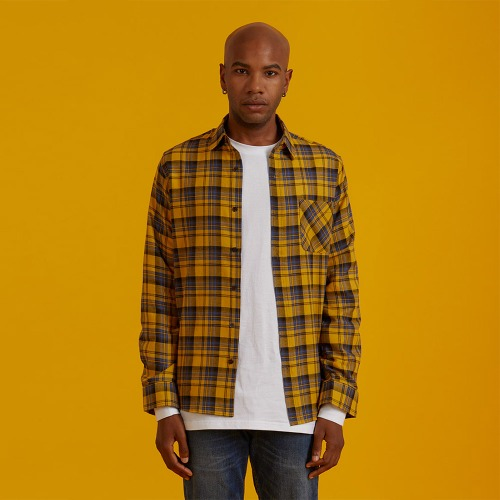 [ATO] CHECK90 SHIRT - yellow