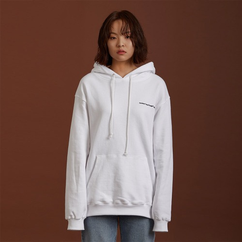 [ATO] NEEDLEPOINT HOODY - white