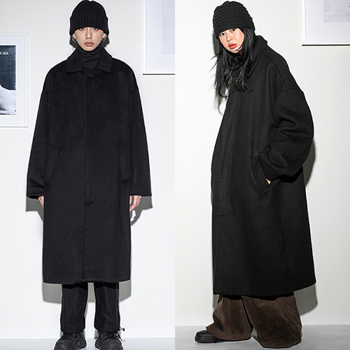 [FLARE] over hidden mac coat (FL-010) - Black
