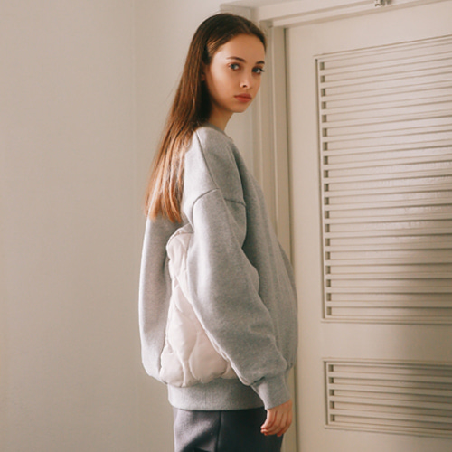 [언아웃핏]UNISEX QUILTING SWEAT SHIRTS GRAY