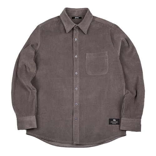 [ATO] CORDUROY 8 SHIRT - grey