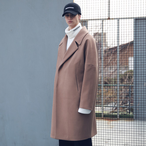 [MASSNOUN] DOUBLE OVERSIZED SUBJECT BELT WOOL COAT MFECT003-CM