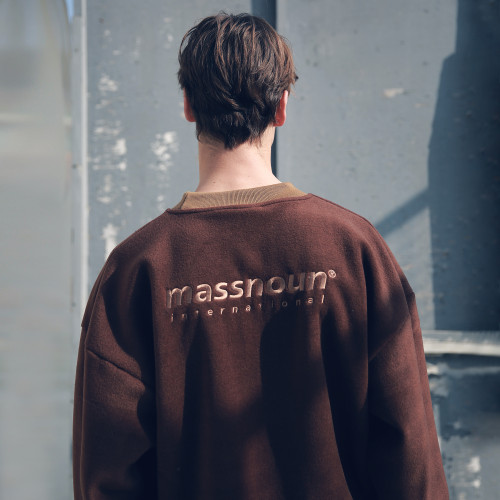 [MASSNOUN] FLEECE SL INT LOGO STRING SWEATSHIRT MFECR004-BR