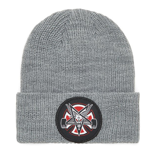 [Thrasher]  Pentagram Cross Beanie Shoreman - HEATHER GREY