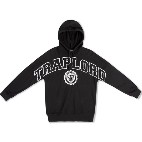 [TRAPLORD] Mens Knit Hooded Pullover - Traplord Varsity (BLACK)