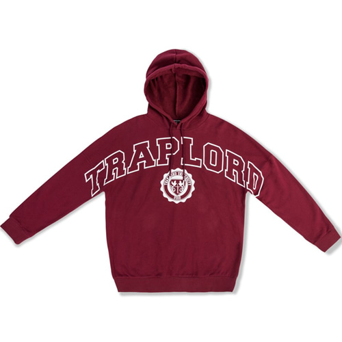 [TRAPLORD] Mens Knit Hooded Pullover - Traplord Varsity (BURGUNDY)