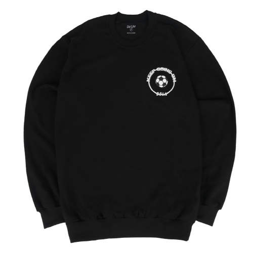 [Do'LM] Small Ball Circle Crewneck Black