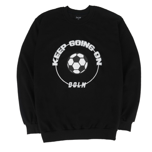 [Do'LM] Big Ball Circle Crewneck Black