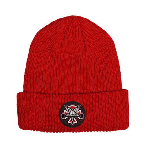 [Thrasher]  Pentagram Cross Beanie Shoreman - LIPSTICK