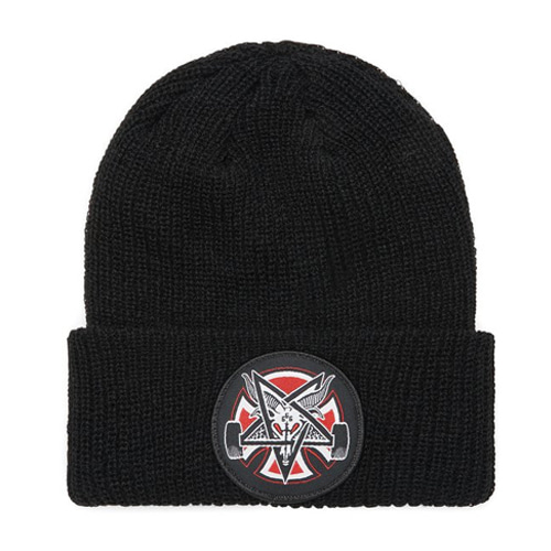 [Thrasher]  Pentagram Cross Beanie - BLACK