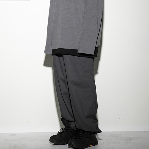[FLAREUP] String wide pants (FU-212_CH) - charcoal