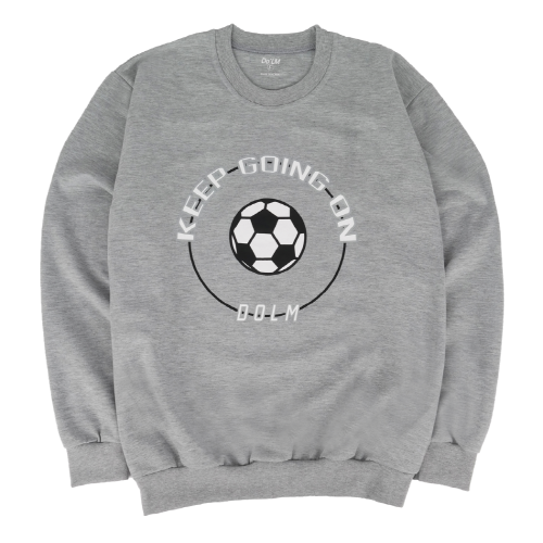 [Do'LM] Big Ball Circle Crewneck Gray