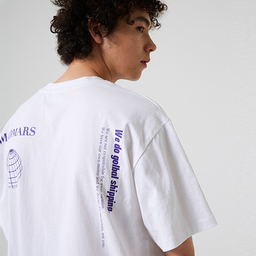 [매드마르스] GLOBAL T-SHIRT_WHITE