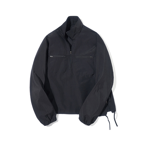 [파르티멘토] Windbreaker Pullover Black