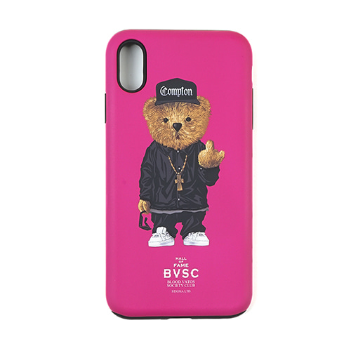 [STIGMA]PHONE CASE COMPTON BEAR PINK iPHONE Xs / Xs MAX / Xr