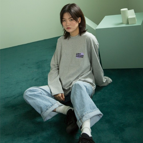[UNLIKELOOK] L.C.H LONG SLEEVE TEE (GRAY)