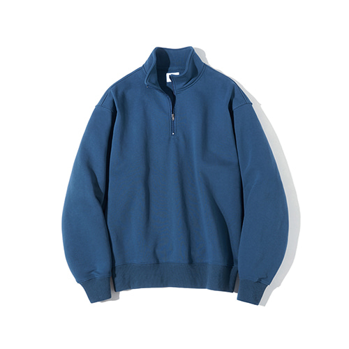[파르티멘토] Pullover Zip-up Sweatshirts Blue
