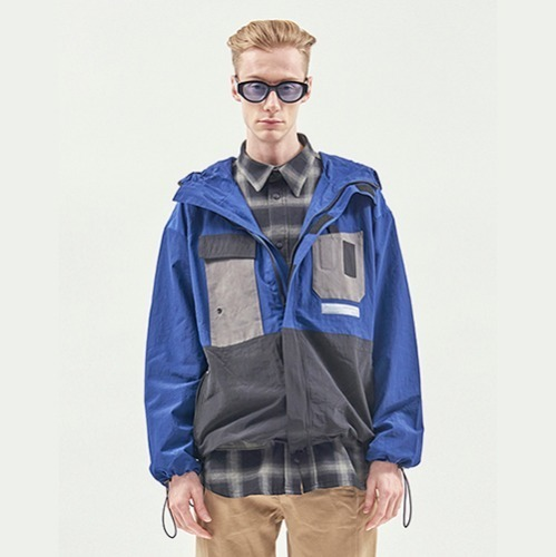 [RENDEZVOUZ] UTILITY POCKET WINDSTOPPER BLUE