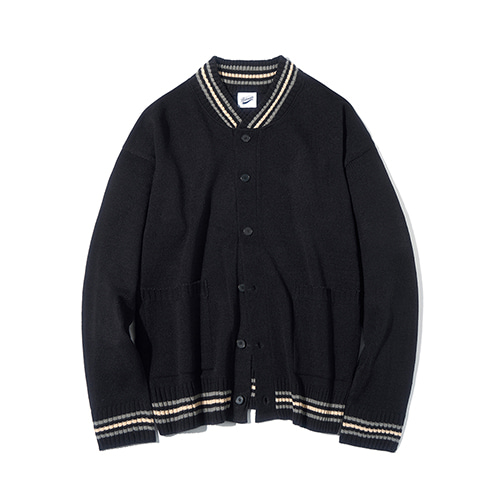 [파르티멘토] Stadium Knit Cardigan Black