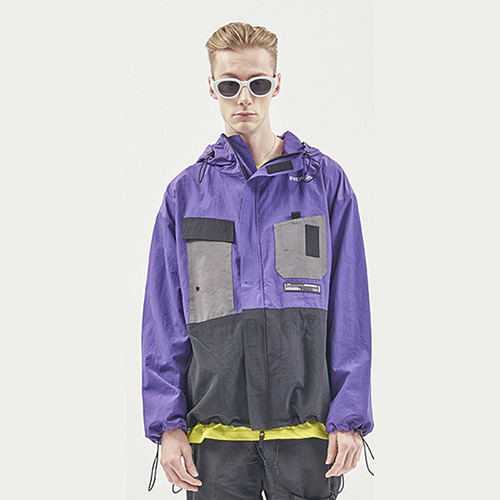 [RENDEZVOUZ] UTILITY POCKET WINDSTOPPER PURPLE