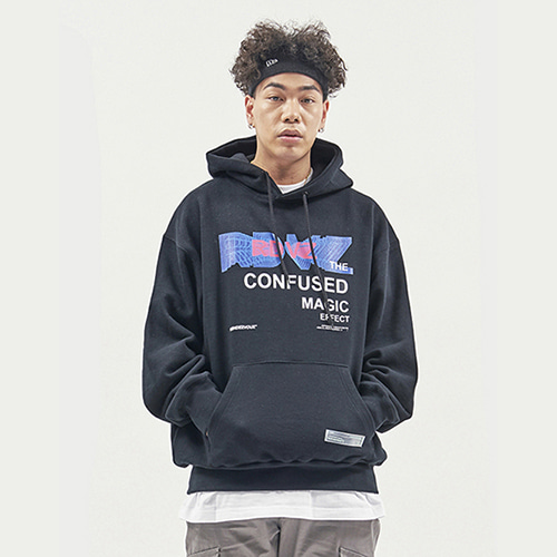 [RENDEZVOUZ] THE CONFUSED HOODIE BLACK