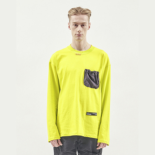 [RENDEZVOUZ] STRING POCKET LONG SLEEVE LIME