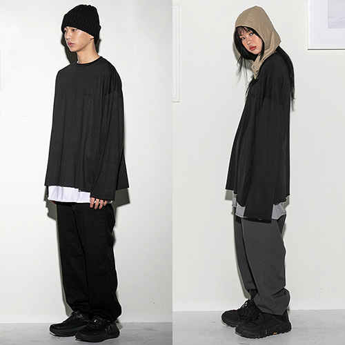 [FLARE UP] Over long sleeve BK (FU-111) - black