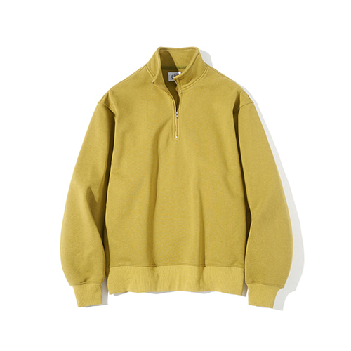 [파르티멘토] Pullover Zip-up Sweatshirts Mustard