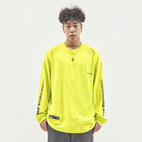 [RENDEZVOUZ] ARM SURVEIL LONG SLEEVE LIME