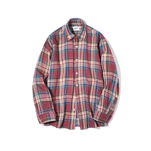 [파르티멘토] Madras Check Shirts Burgundy