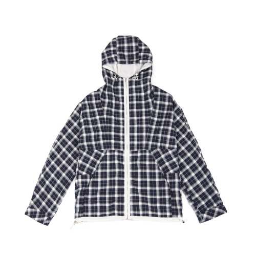 [yeseyesee] Check Mountain Parka Navy